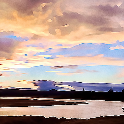 #1924 – Sunset River